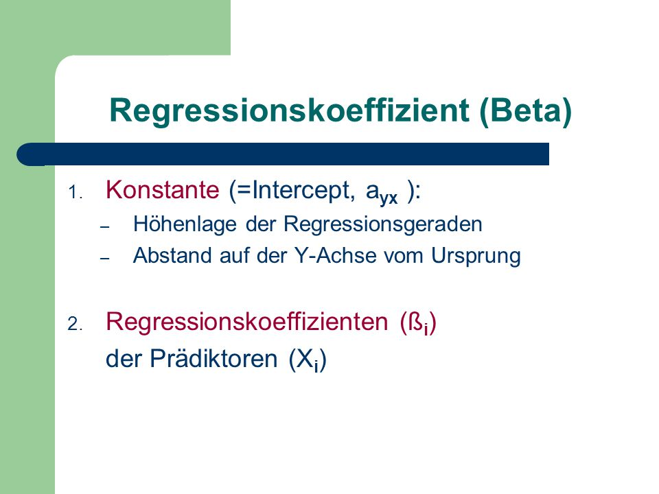 Regressionskoeffizient (Beta)