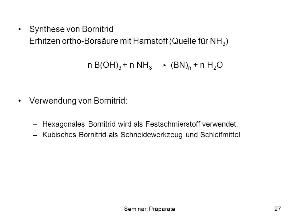 Synthese von Bornitrid