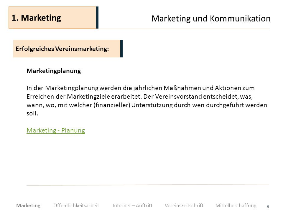 Marketing und Kommunikation