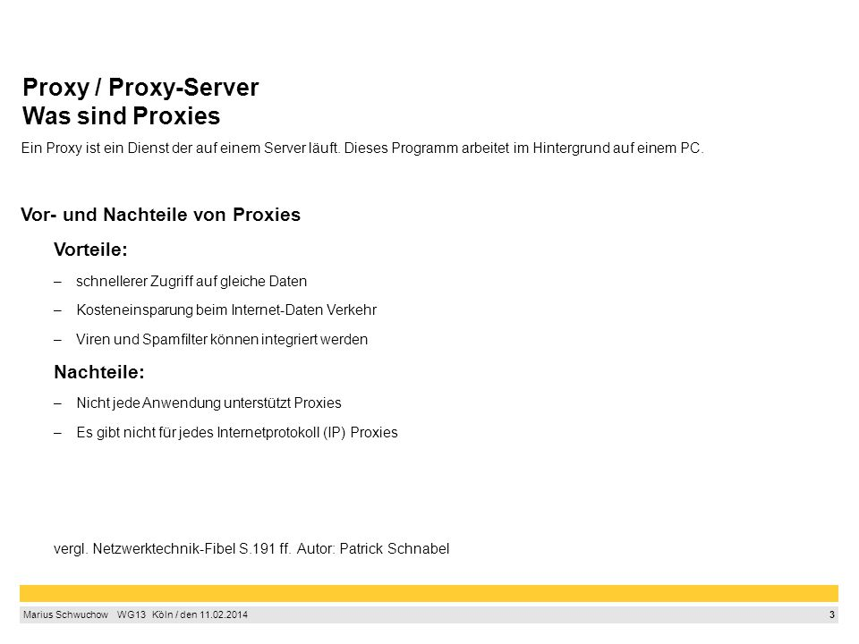 Proxy / Proxy-Server Was sind Proxies