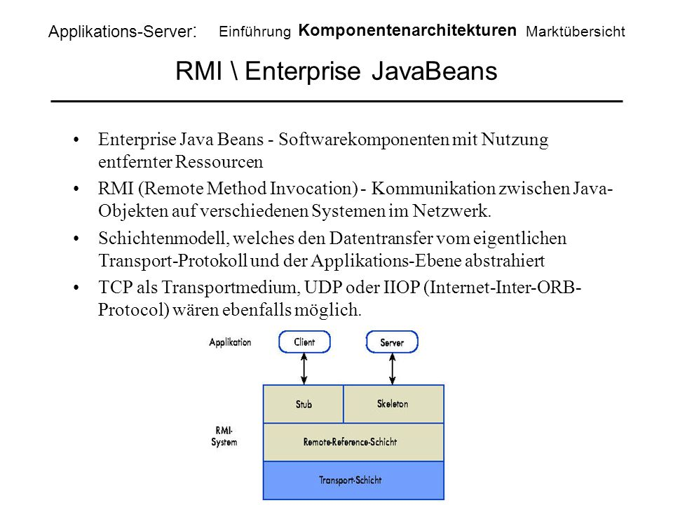RMI \ Enterprise JavaBeans