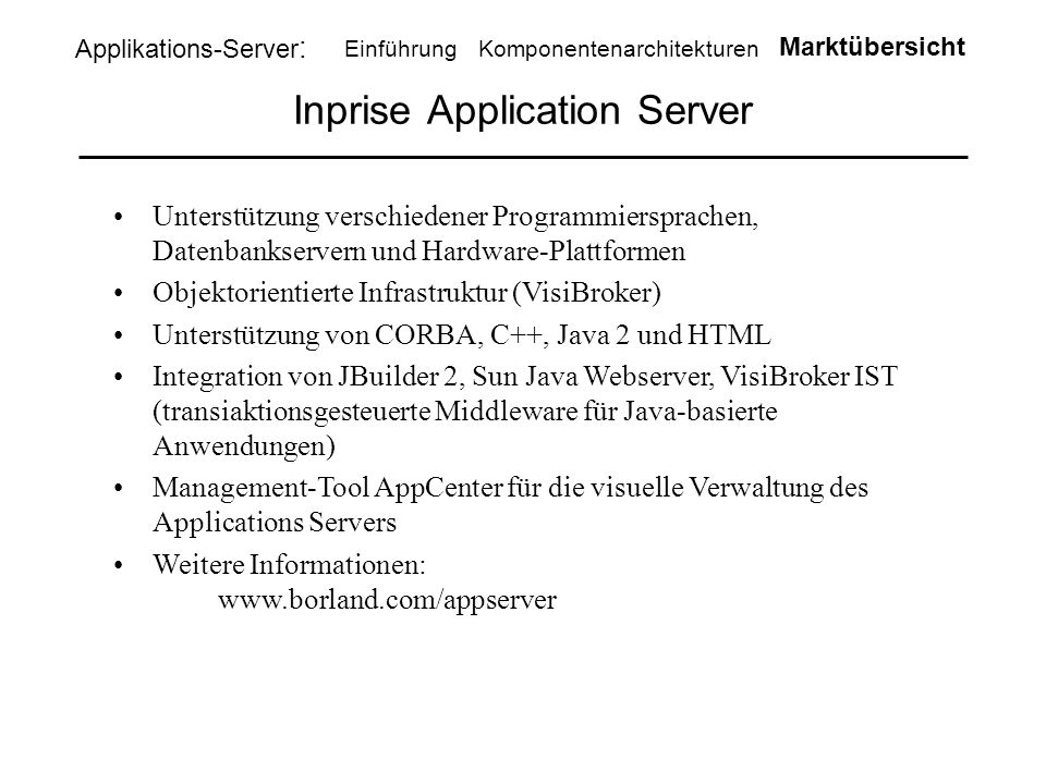 Inprise Application Server