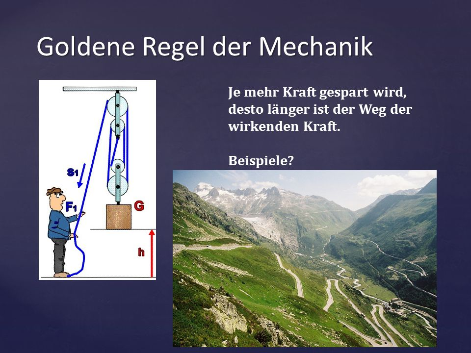 Goldene Regel der Mechanik