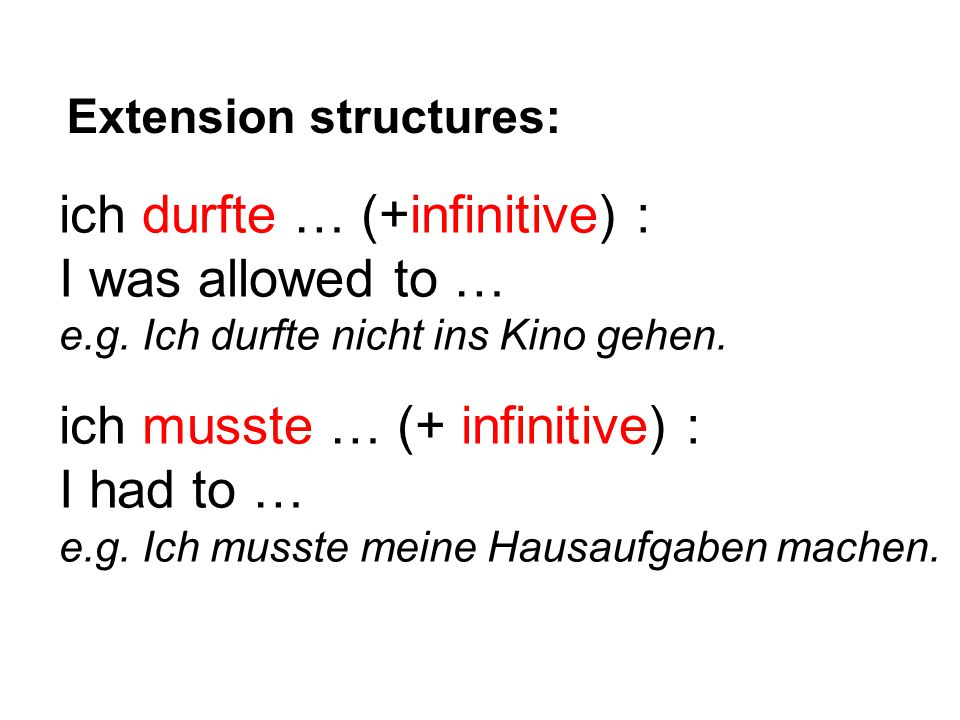 Extension structures: