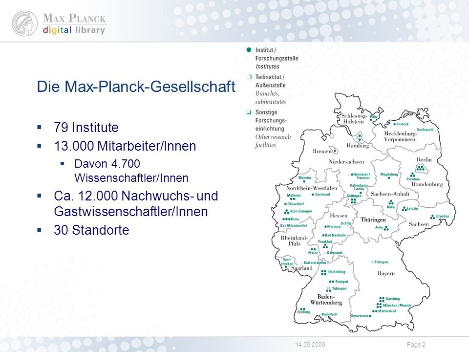 Die Max Planck Digital Library