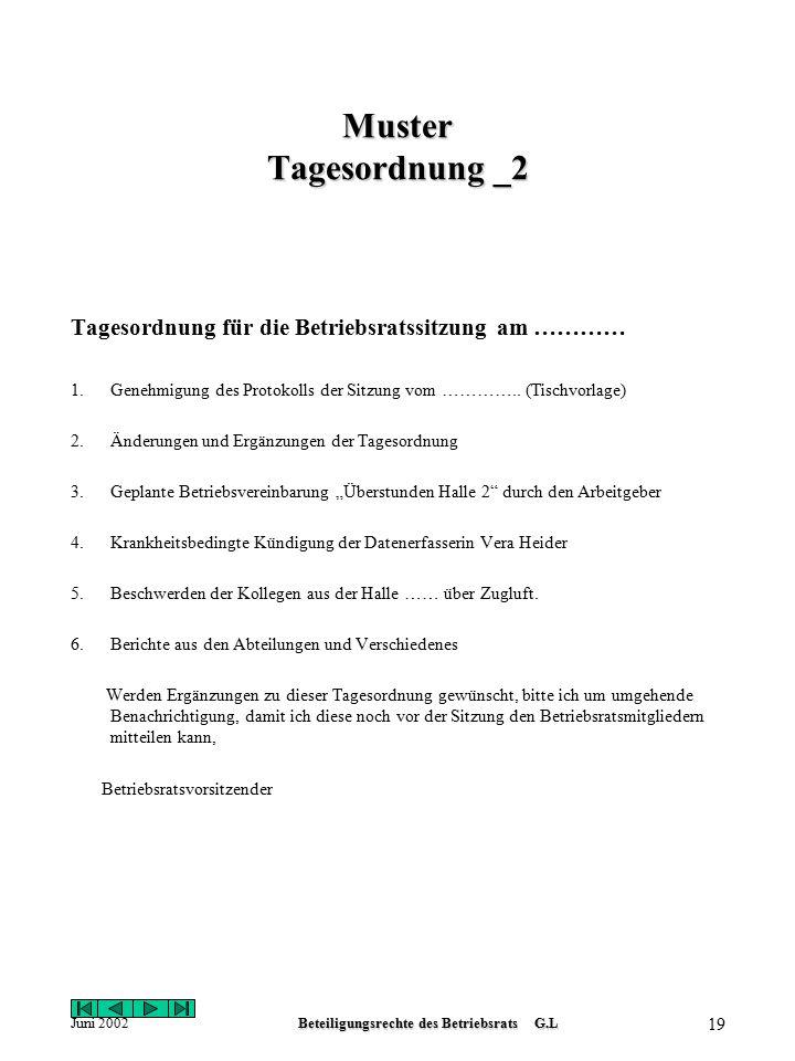 19 beteiligungsrechte des betriebsrats gl - Krankheitsbedingte Kndigung Muster
