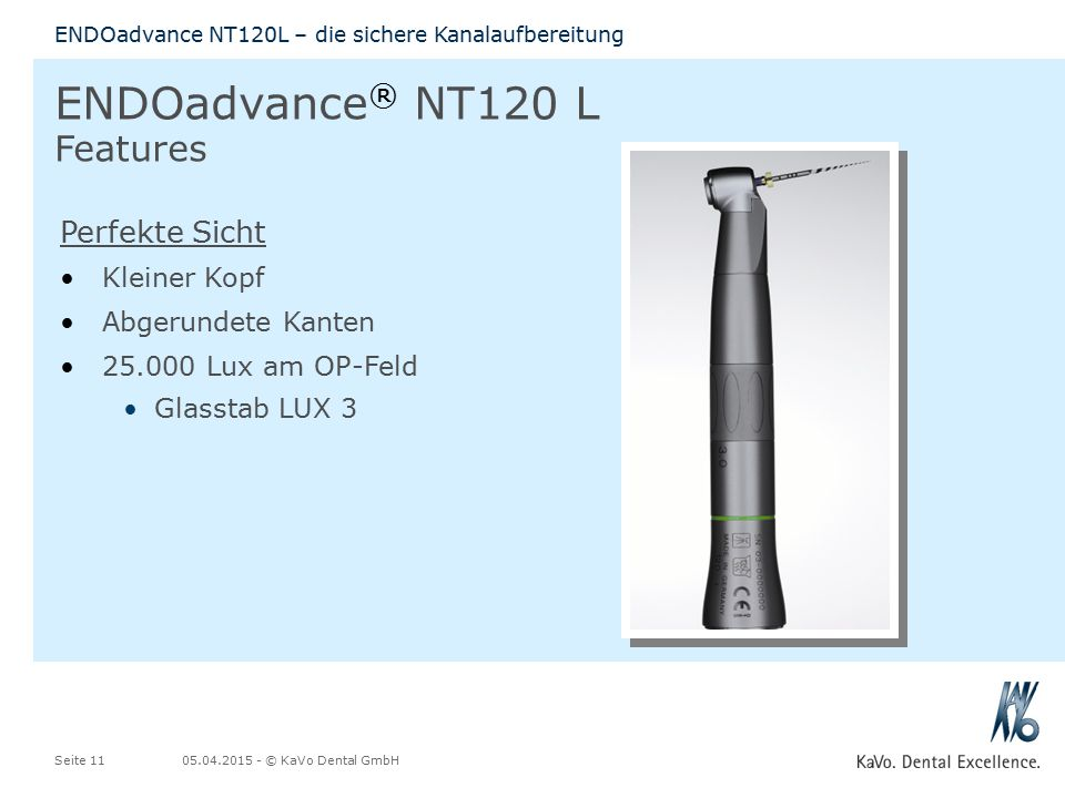 ENDOadvance® NT120 L Features