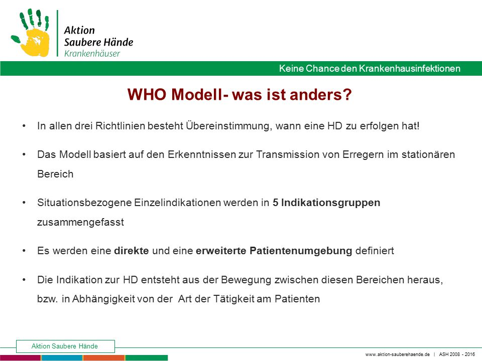 WHO Modell- was ist anders