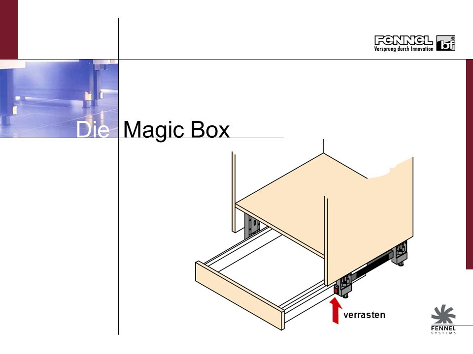 Die Magic Box verrasten