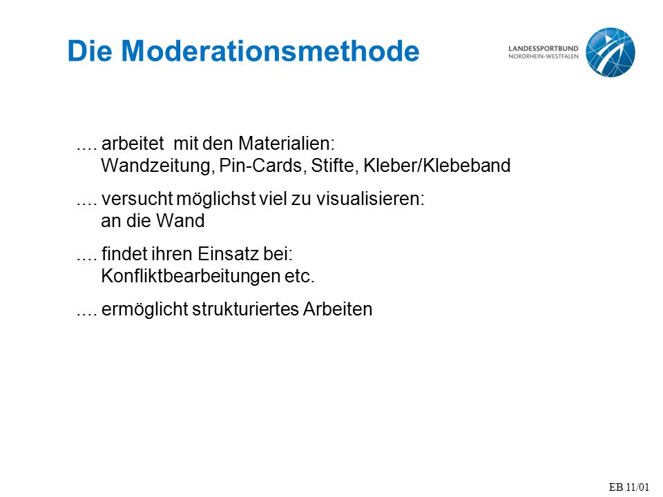 Die Moderationsmethode