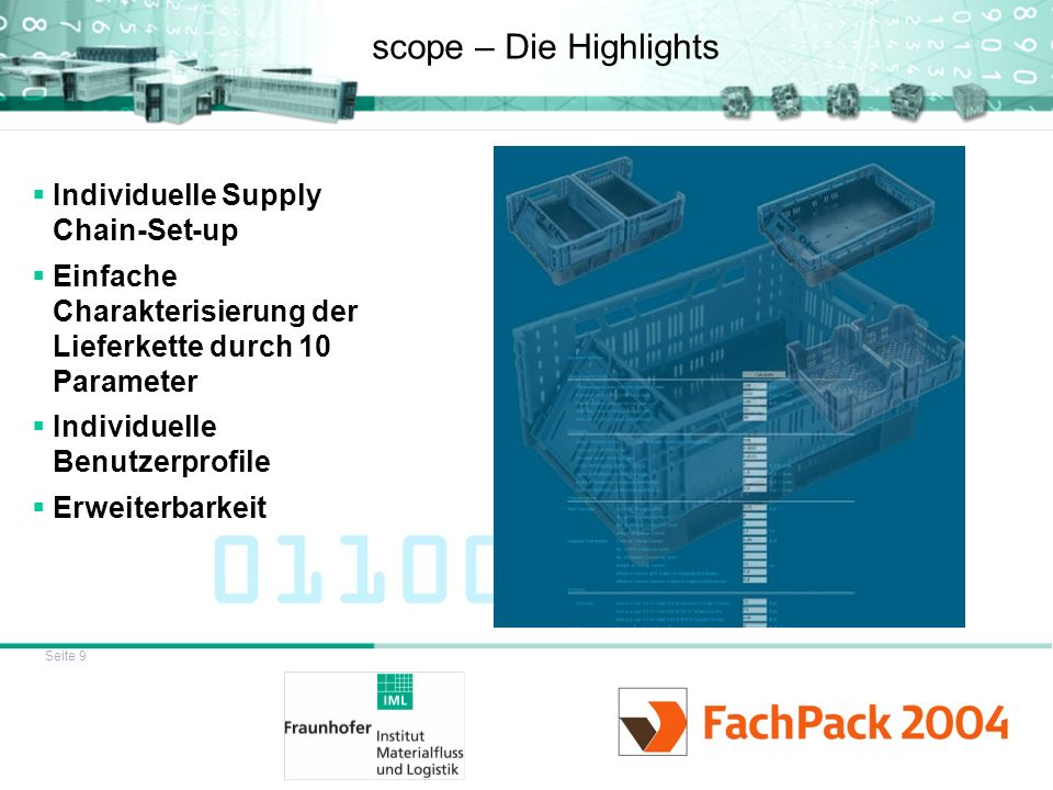 scope – Die Highlights Individuelle Supply Chain-Set-up