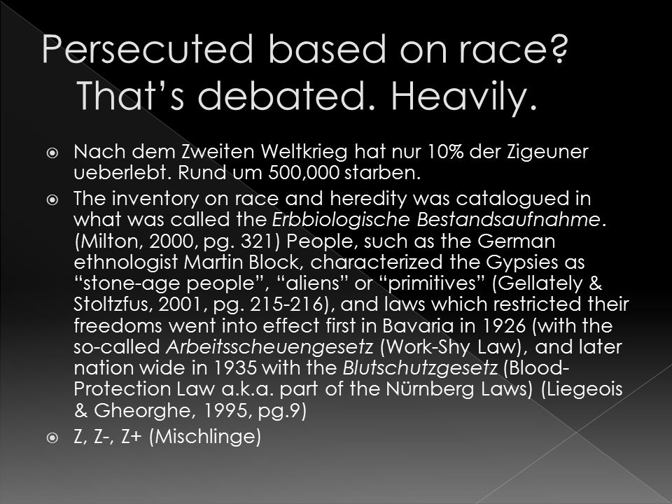 Persecuted based on race That's debated. Heavily.