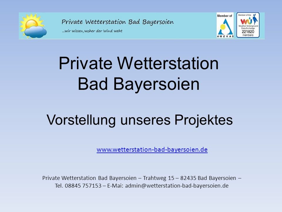 Private Wetterstation Bad Bayersoien