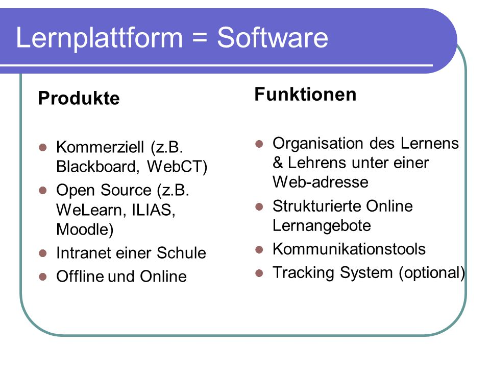Lernplattform = Software