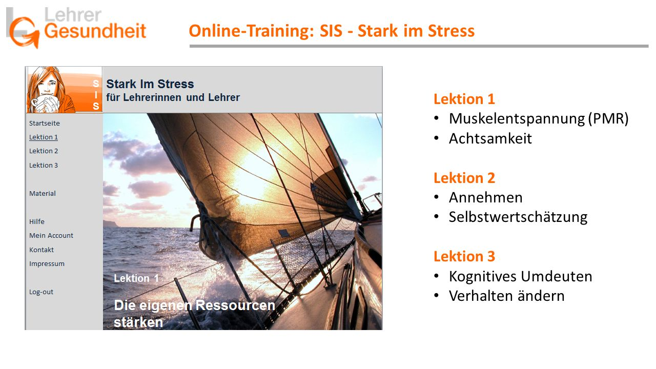 Online-Training: SIS - Stark im Stress