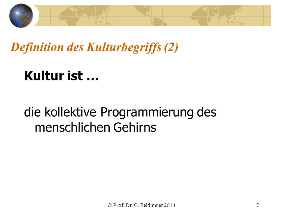 Definition des Kulturbegriffs (2)