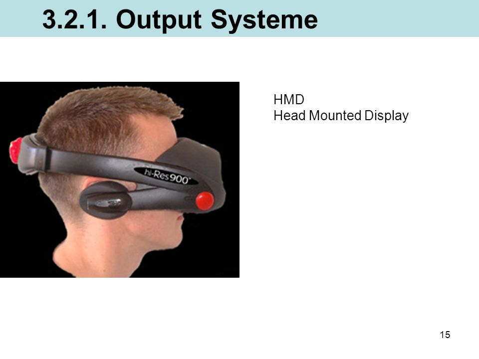 3.2.1. Output Systeme HMD Head Mounted Display