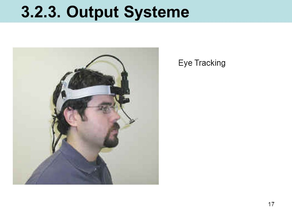 3.2.3. Output Systeme Eye Tracking