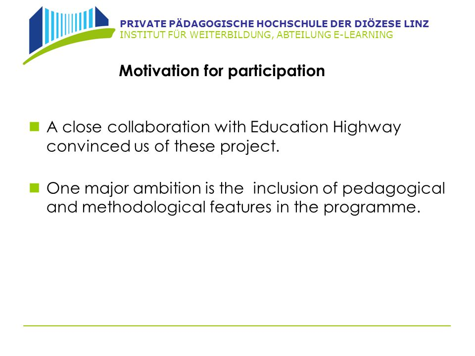 Motivation for participation