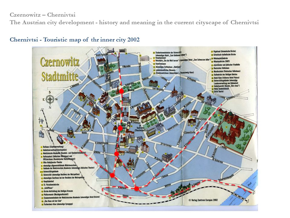 Czernowitz – Chernivtsi The Austrian city development - history and meaning in the current cityscape of Chernivtsi