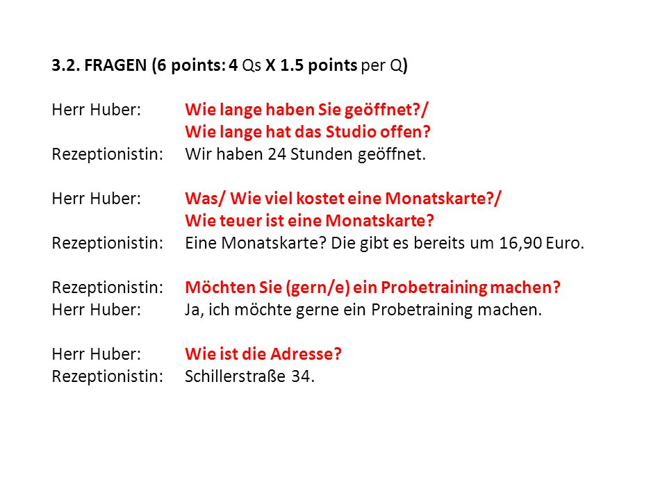 3.2. FRAGEN (6 points: 4 Qs X 1.5 points per Q)