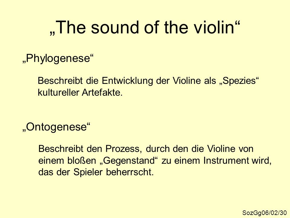 """The sound of the violin"