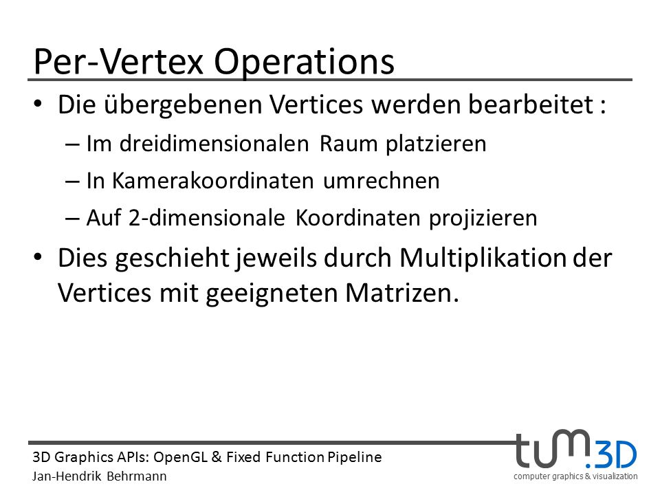 Per-Vertex Operations
