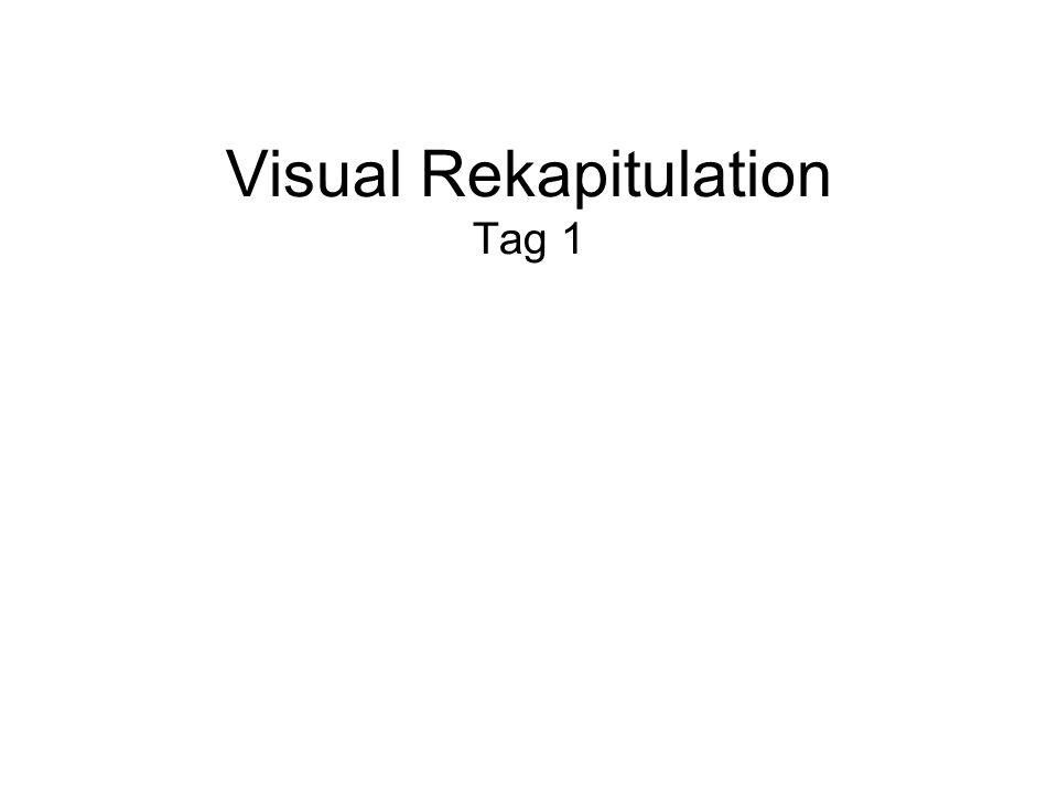 Visual Rekapitulation Tag 1