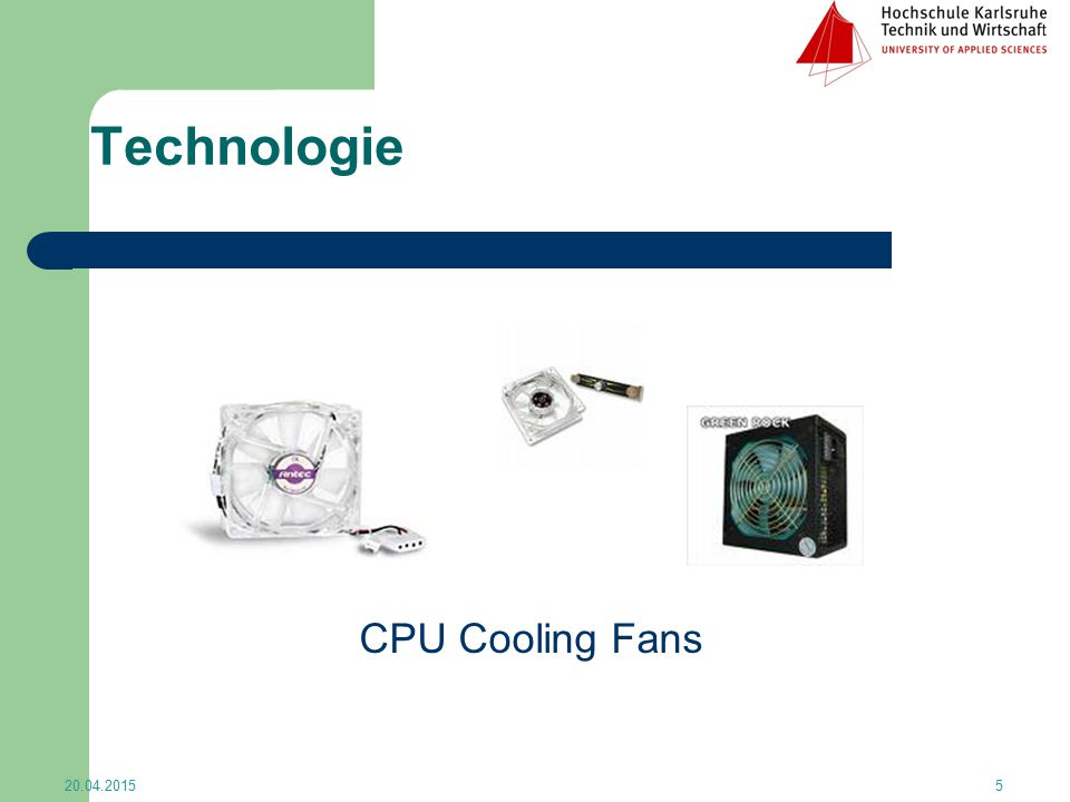 Technologie CPU Cooling Fans 13.04.2017