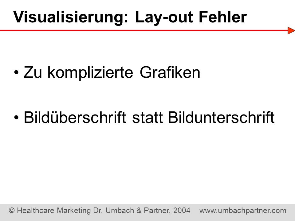 Visualisierung: Lay-out Fehler