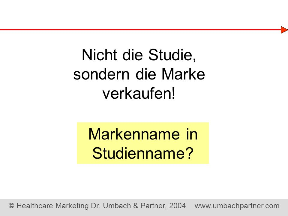 Markenname in Studienname