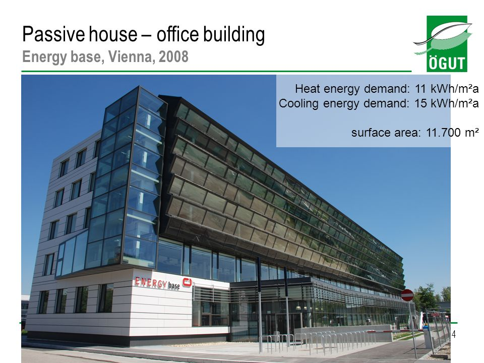 Passive house – office building Energy base, Vienna, 2008