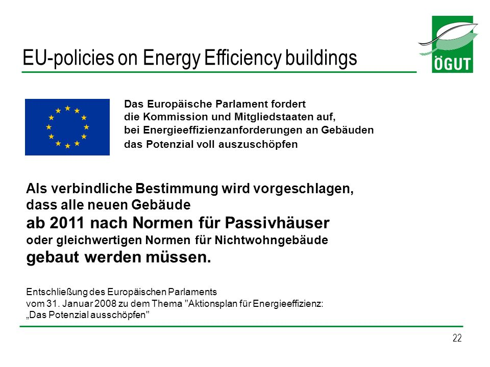 EU-policies on Energy Efficiency buildings