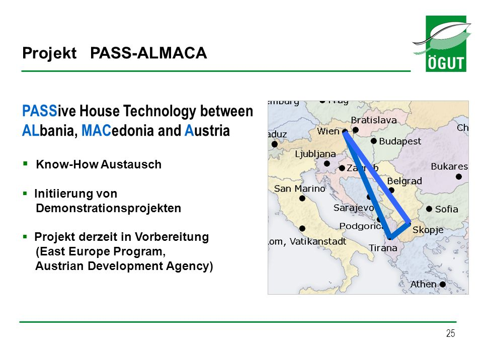 PASSive House Technology between ALbania, MACedonia and Austria