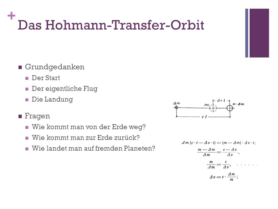 Das Hohmann-Transfer-Orbit
