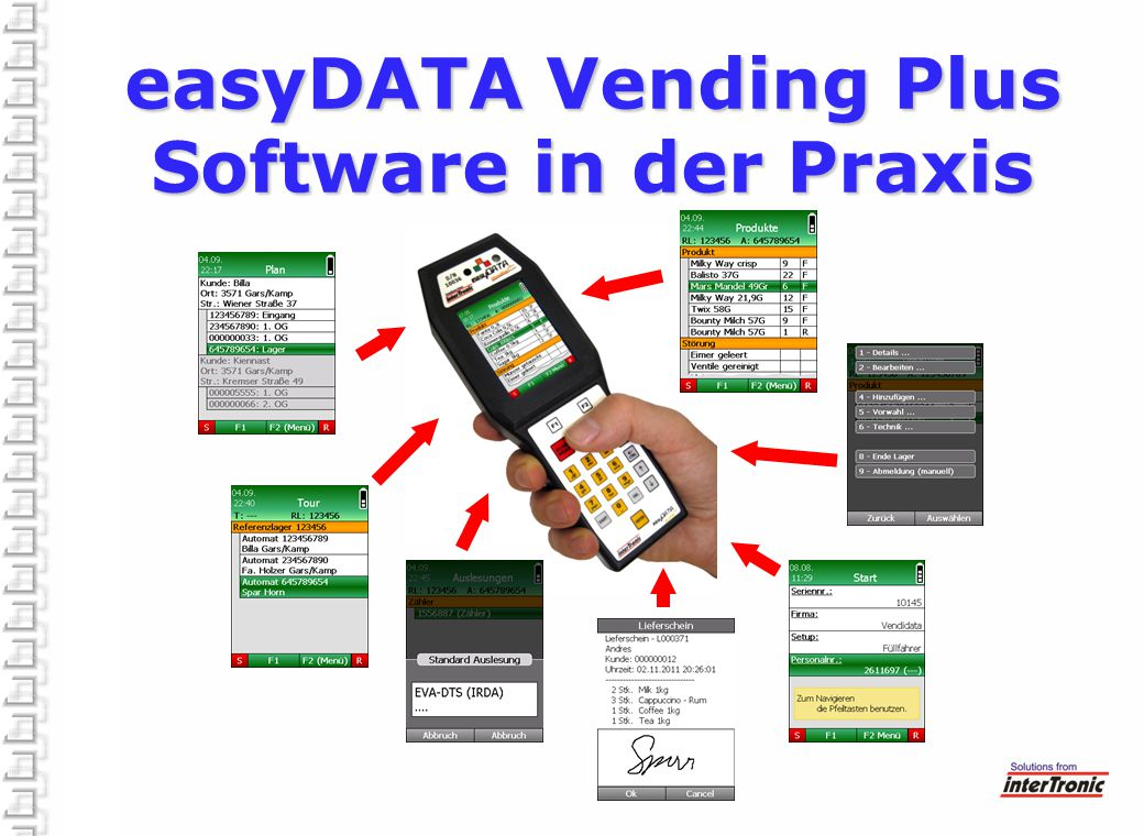 easyDATA Vending Plus Software in der Praxis