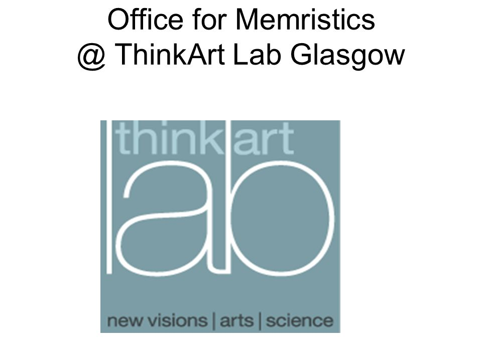 Office for ThinkArt Lab Glasgow