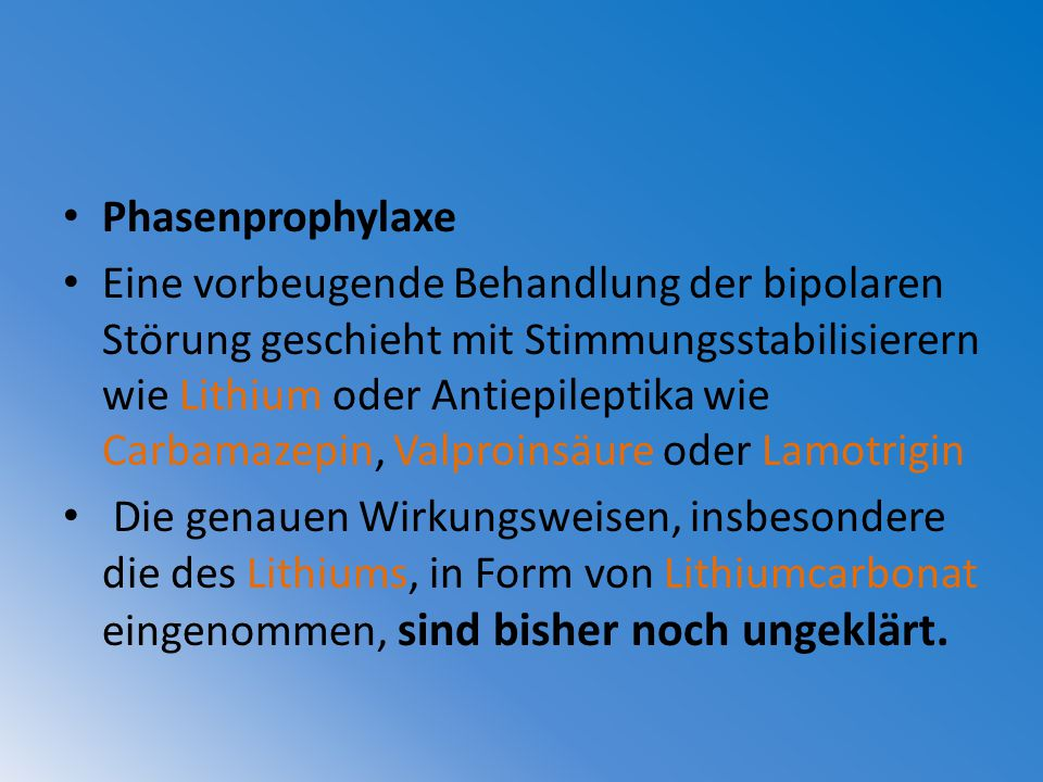 Phasenprophylaxe