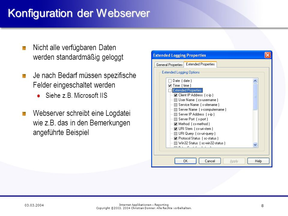 Konfiguration der Webserver