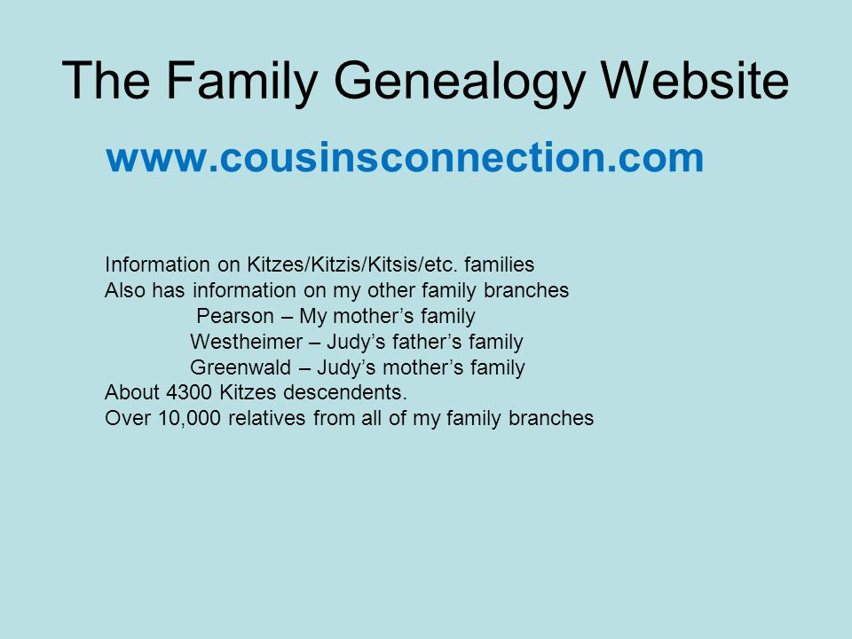 The Family Genealogy Website