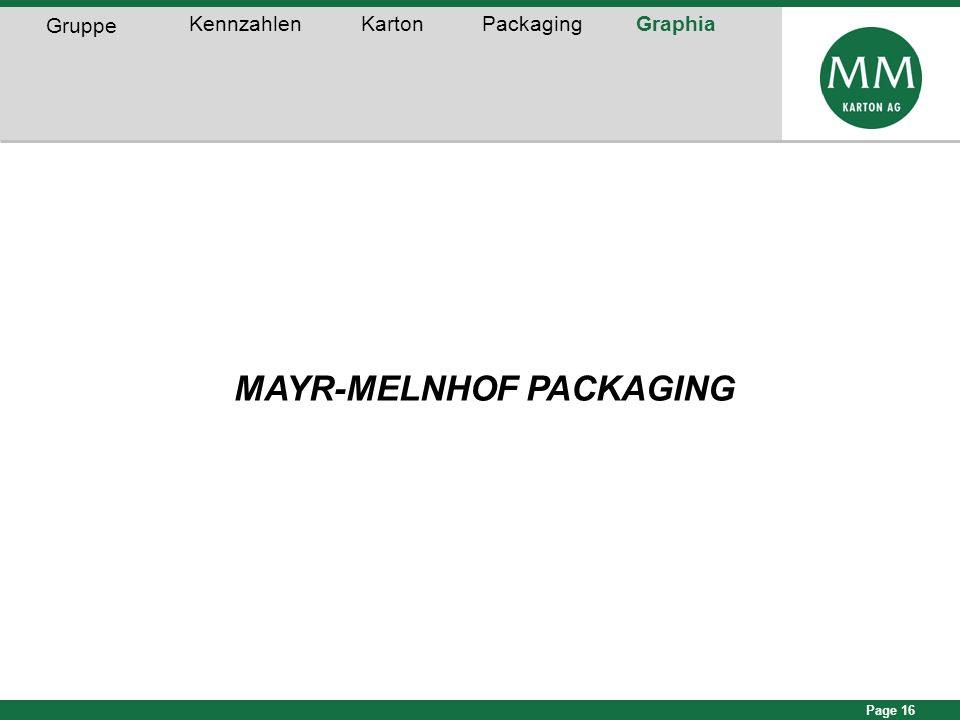 MAYR-MELNHOF PACKAGING