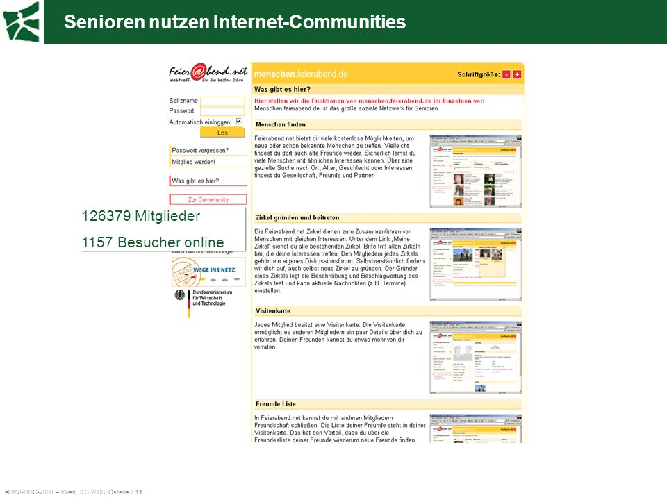 Senioren nutzen Internet-Communities