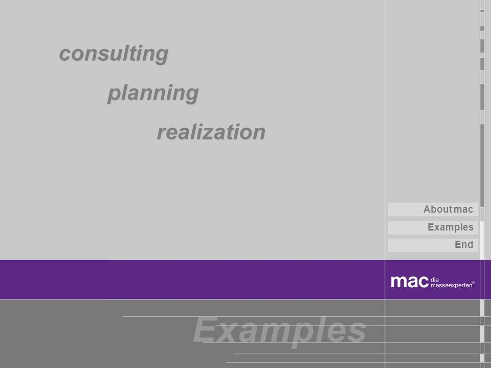 consulting planning realization About mac Examples End