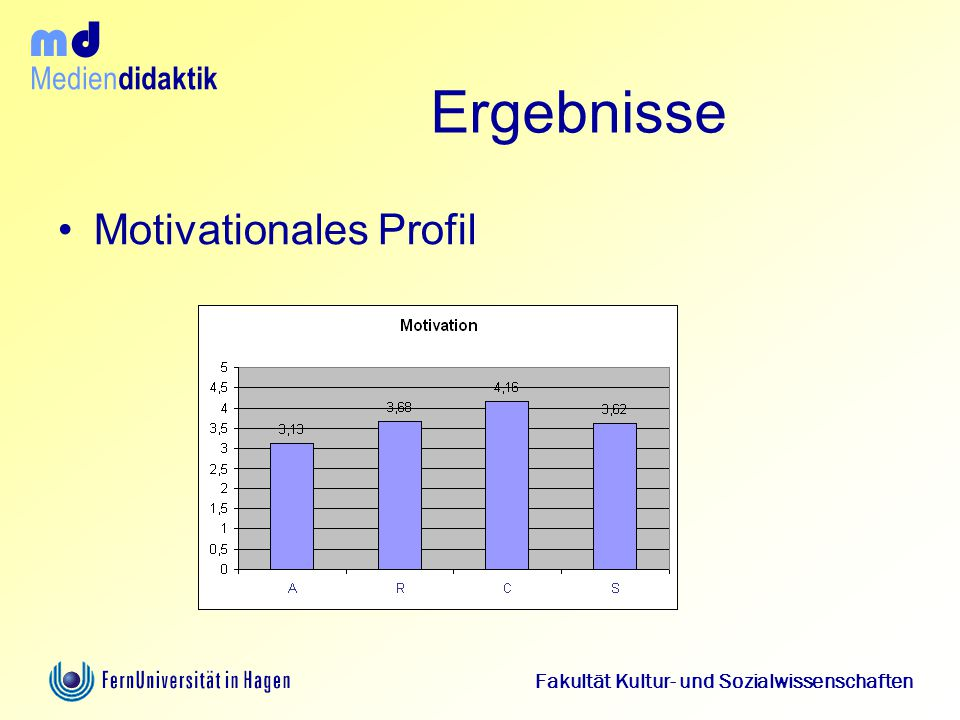 Ergebnisse Motivationales Profil