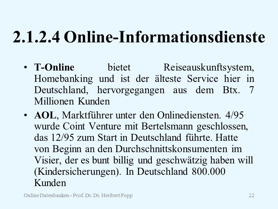 2.1.2.4 Online-Informationsdienste