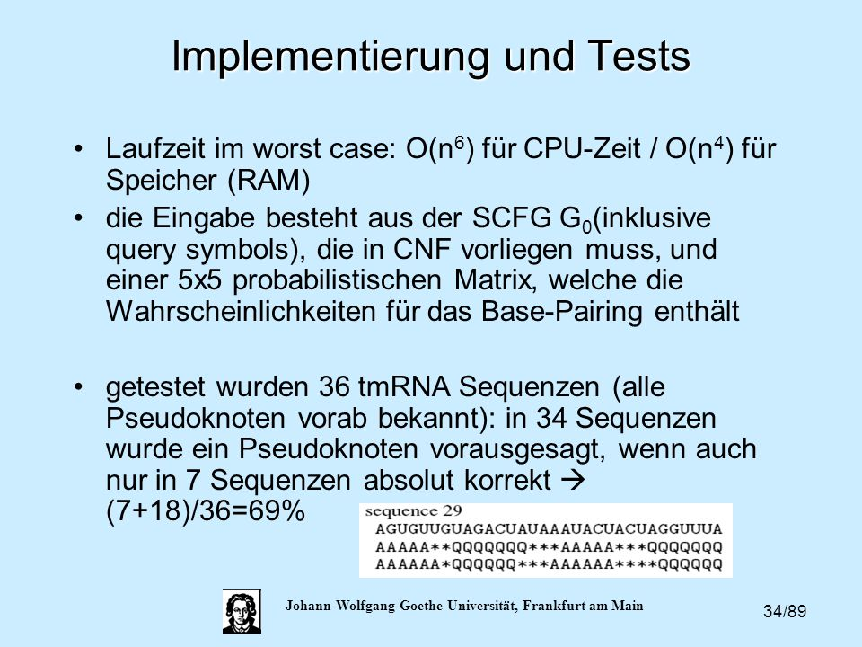 Implementierung und Tests