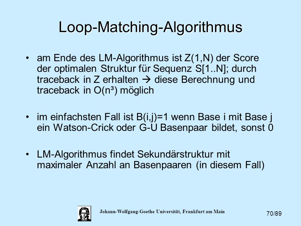 Loop-Matching-Algorithmus