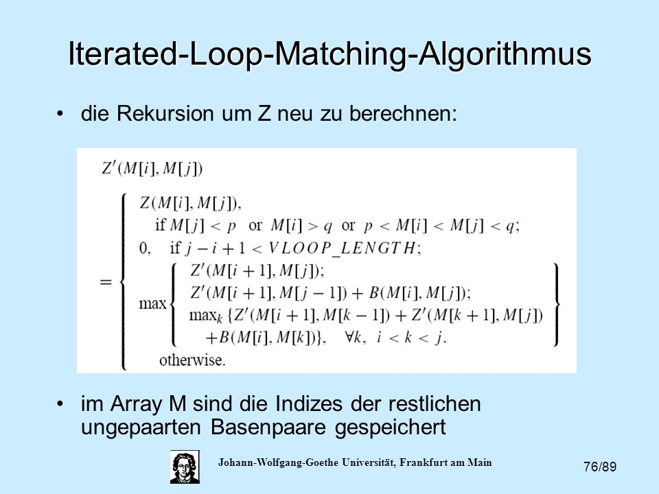 Iterated-Loop-Matching-Algorithmus