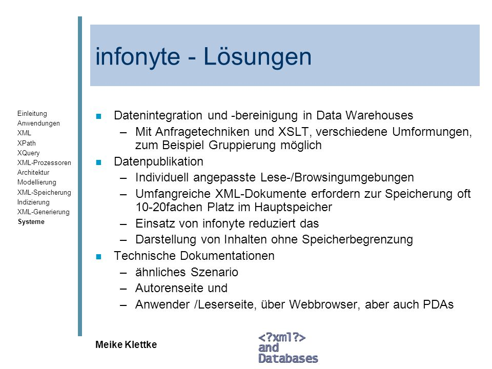 infonyte - Lösungen Datenintegration und -bereinigung in Data Warehouses.