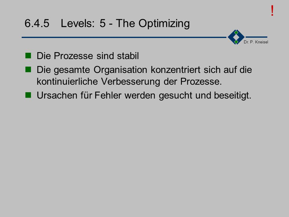 6.4.5 Levels: 5 - The Optimizing